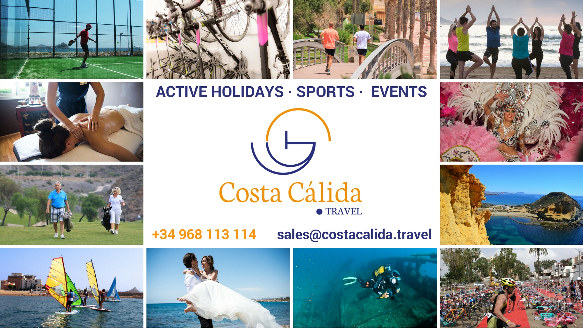COSTA CÁLIDA .TRAVEL ACTIVE HOLIDAYS - SPORTS - EVENTS